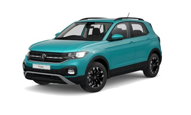 Demo Volkswagen T-Cross C1 MY21 85TSI DSG FWD Life Tanunda, 2021 Volkswagen T-Cross C1 MY21 85TSI DSG FWD Life Makena Turquoise Metallic 7 Speed