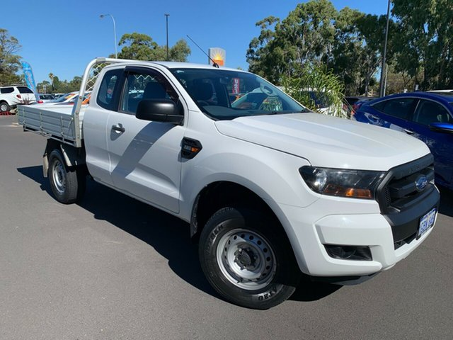 Used Ford Ranger PX MkII XL Hi-Rider Bunbury, 2016 Ford Ranger PX MkII XL Hi-Rider White 6 Speed Sports Automatic Cab Chassis