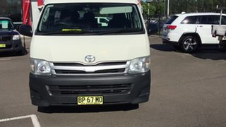 2012 Toyota HiAce KDH223R MY12 Commuter High Roof Super LWB White 4 Speed Automatic Bus