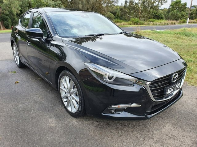 Used Mazda 3 SP25 GT Geelong, 2017 Mazda 3 BN Series SP25 GT Black Manual Hatchback
