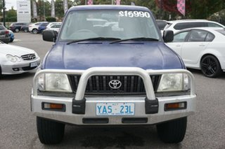 1999 Toyota Landcruiser Prado VZJ95R GXL Blue 5 Speed Manual Wagon.
