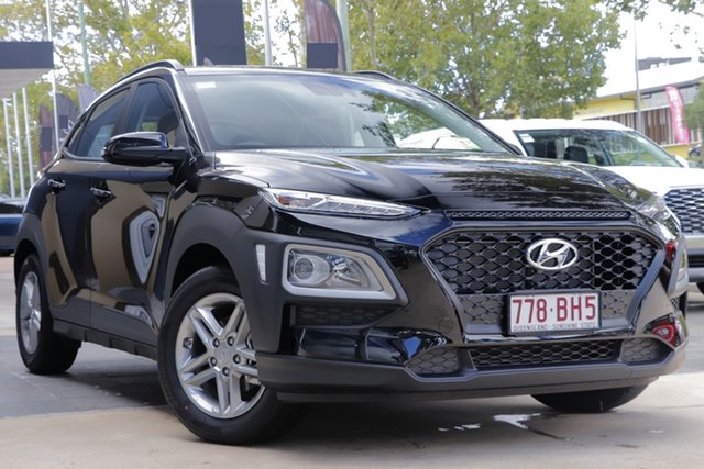 Demo Hyundai Kona OS.3 MY20 Active 2WD Toowoomba, 2020 Hyundai Kona OS.3 MY20 Active 2WD Phantom Black 6 Speed Sports Automatic Wagon