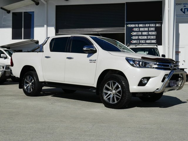 Used Toyota Hilux GUN126R SR5 Double Cab Capalaba, 2016 Toyota Hilux GUN126R SR5 Double Cab White 6 Speed Sports Automatic Utility