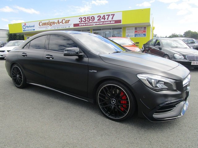 Used Mercedes-Benz CLA-Class C117 807MY CLA45 AMG SPEEDSHIFT DCT 4MATIC Kedron, 2017 Mercedes-Benz CLA-Class C117 807MY CLA45 AMG SPEEDSHIFT DCT 4MATIC Black 7 Speed