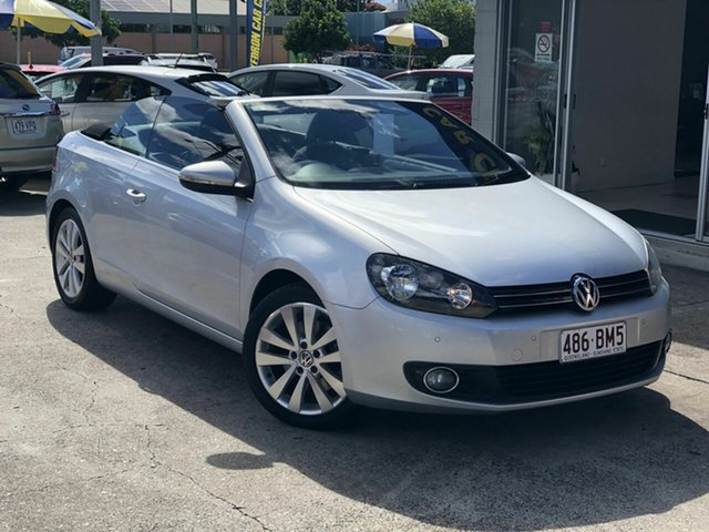 Used Volkswagen Golf VI MY12 118TSI DSG Chermside, 2011 Volkswagen Golf VI MY12 118TSI DSG Silver 7 Speed Sports Automatic Dual Clutch Cabriolet