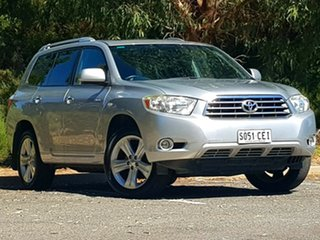 2008 Toyota Kluger GSU45R Grande AWD Silver 5 Speed Sports Automatic Wagon.
