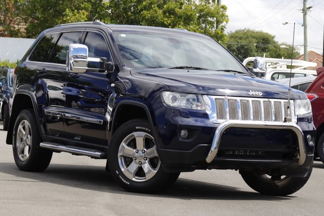 Used Jeep Grand Cherokee WK MY2012 Limited Mount Gravatt, 2012 Jeep Grand Cherokee WK MY2012 Limited Blue 5 Speed Sports Automatic Wagon