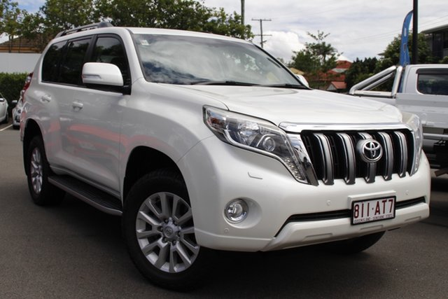 Used Toyota Landcruiser Prado KDJ150R MY14 VX Mount Gravatt, 2014 Toyota Landcruiser Prado KDJ150R MY14 VX White 5 Speed Sports Automatic Wagon
