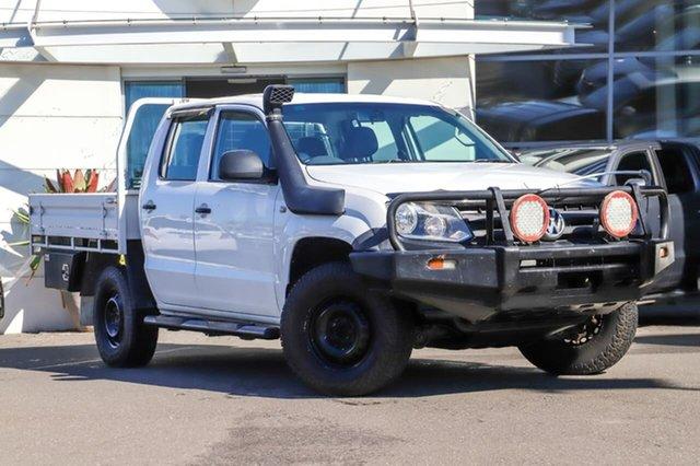 Used Volkswagen Amarok 2H MY13 TDI400 4Mot Sutherland, 2013 Volkswagen Amarok 2H MY13 TDI400 4Mot White 6 Speed Manual Cab Chassis