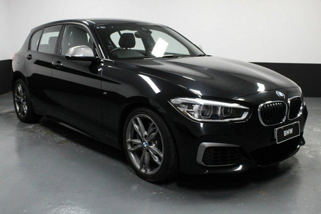 Used BMW 1 Series F20 LCI M140i Hamilton, 2016 BMW 1 Series F20 LCI M140i Black Sapphire 8 Speed Sports Automatic Hatchback