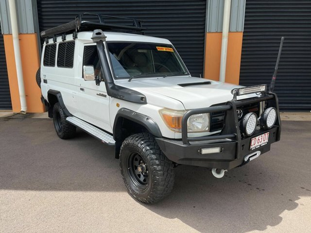 Used Toyota Landcruiser VDJ78R Workmate Troopcarrier Winnellie, 2008 Toyota Landcruiser VDJ78R Workmate Troopcarrier White 5 Speed Manual Wagon