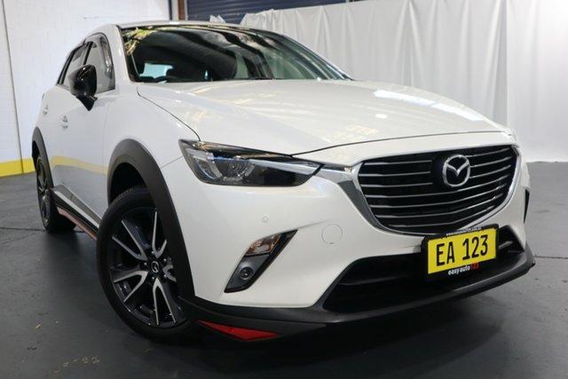 Used Mazda CX-3 DK4W7A Akari SKYACTIV-Drive i-ACTIV AWD LE Castle Hill, 2018 Mazda CX-3 DK4W7A Akari SKYACTIV-Drive i-ACTIV AWD LE White 6 Speed Sports Automatic Wagon