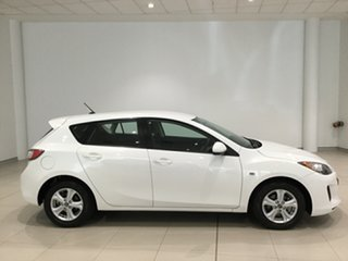 2013 Mazda 3 BL10F2 MY13 Neo Crystal White Pearl 6 Speed Manual Hatchback.
