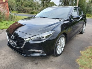 2017 Mazda 3 BN Series SP25 GT Black Manual Hatchback.