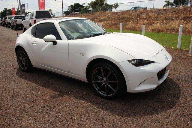 Pre-Owned Mazda MX-5 ND SKYACTIV-MT Darwin, 2017 Mazda MX-5 ND SKYACTIV-MT White Nova 6 Speed Manual Convertible
