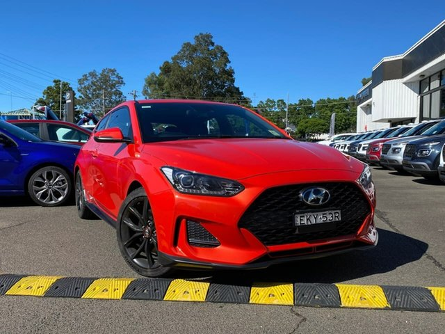 Demo Hyundai Veloster JS MY20 Turbo Coupe D-CT Penrith, 2019 Hyundai Veloster JS MY20 Turbo Coupe D-CT Tangerine Comet 7 Speed Sports Automatic Dual Clutch