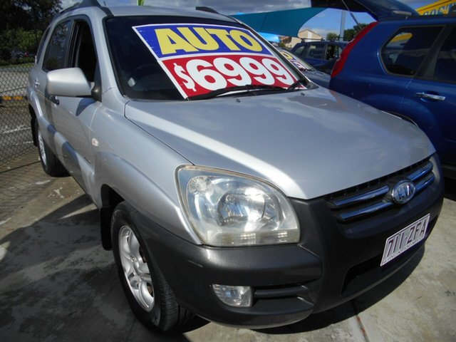 Used Kia Sportage KM Springwood, 2005 Kia Sportage KM Silver 4 Speed Sports Automatic Wagon