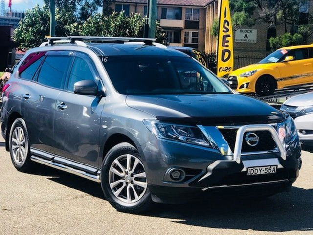 Used Nissan Pathfinder R52 MY15 ST X-tronic 4WD Liverpool, 2015 Nissan Pathfinder R52 MY15 ST X-tronic 4WD Grey 1 Speed Constant Variable Wagon