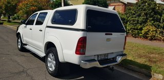 2011 Toyota Hilux KUN26R MY11 Upgrade SR5 (4x4) White 5 Speed Manual Dual Cab Pick-up