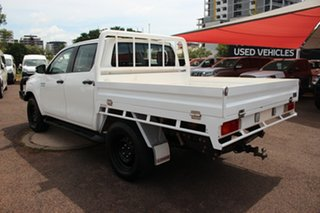 Toyota Hilux GUN126R SR5 Double Cab Glacier White 6 Speed Manual Dual Cab Chassis