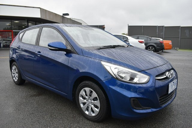 Used Hyundai Accent RB4 MY16 Active Wantirna South, 2016 Hyundai Accent RB4 MY16 Active Blue 6 Speed Constant Variable Hatchback