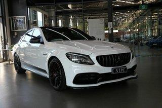 2019 Mercedes-Benz C-Class W205 800MY C63 AMG SPEEDSHIFT MCT S White 9 Speed Sports Automatic Sedan
