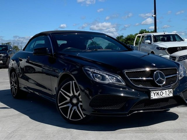 Used Mercedes-Benz E-Class A207 807MY E250 7G-Tronic + Liverpool, 2016 Mercedes-Benz E-Class A207 807MY E250 7G-Tronic + Black 7 Speed Sports Automatic Cabriolet