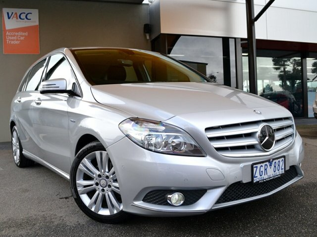 Used Mercedes-Benz B-Class W246 B200 CDI BlueEFFICIENCY DCT Fawkner, 2012 Mercedes-Benz B-Class W246 B200 CDI BlueEFFICIENCY DCT Silver 7 Speed