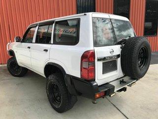 2008 Nissan Patrol GU 6 MY08 DX White 5 Speed Manual Wagon.