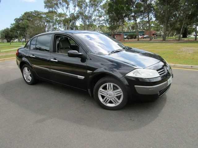 Used Renault Megane Expression Glenelg, 2004 Renault Megane Expression Black 4 Speed Automatic Sedan