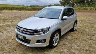 2015 Volkswagen Tiguan 5N MY15 155TSI DSG 4MOTION R-Line Silver 7 Speed Sports Automatic Dual Clutch