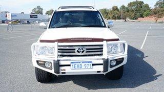 2005 Toyota Landcruiser UZJ100R Sahara Pearl White 5 Speed Automatic Wagon.