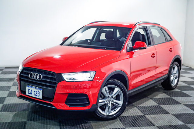 Used Audi Q3 8U MY18 TFSI S Tronic Edgewater, 2018 Audi Q3 8U MY18 TFSI S Tronic Red/Black 6 Speed Sports Automatic Dual Clutch Wagon