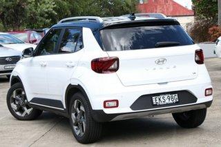 2020 Hyundai Venue QX MY20 Elite (Black Interior) Polar White 6 Speed Automatic Wagon.