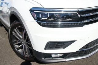 2020 Volkswagen Tiguan 5N MY21 162TSI Highline DSG 4MOTION Allspace Pure White 7 Speed.