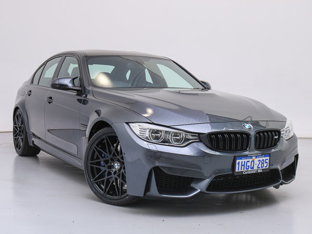 Used BMW M3 F80 , 2014 BMW M3 F80 Mineral Grey 7 Speed Auto Dual Clutch Sedan