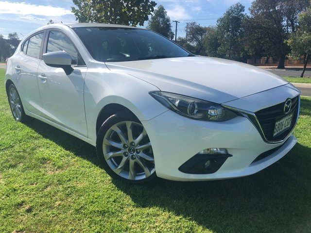 Used Mazda 3 BM5436 SP25 SKYACTIV-MT Hindmarsh, 2014 Mazda 3 BM5436 SP25 SKYACTIV-MT Snowflake White 6 Speed Manual Hatchback