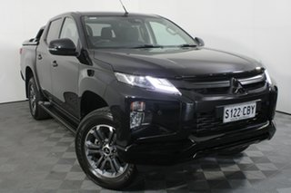 2019 Mitsubishi Triton MR MY19 GLS Double Cab Pitch Black 6 Speed Sports Automatic Utility.
