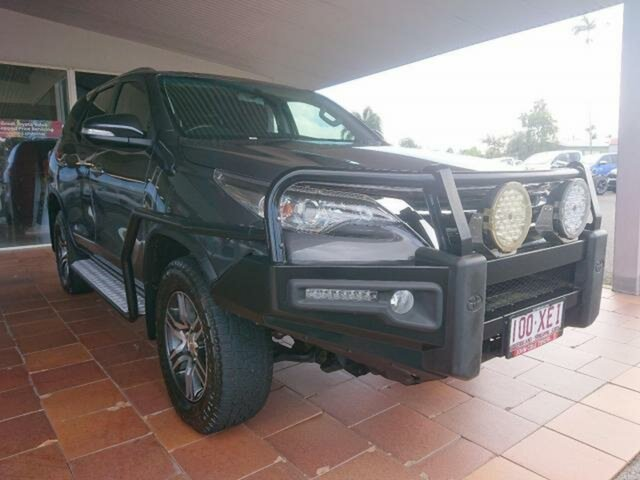 Pre-Owned Toyota Fortuner GUN156R GXL Innisfail, 2017 Toyota Fortuner GUN156R GXL Graphite 6 Speed Automatic Wagon