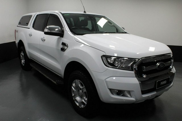 Used Ford Ranger PX MkII 2018.00MY XLT Double Cab Hamilton, 2017 Ford Ranger PX MkII 2018.00MY XLT Double Cab White 6 Speed Sports Automatic Utility