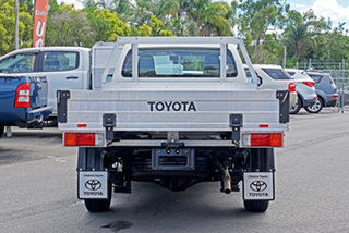 2019 Toyota Hilux TGN121R Workmate 4x2 White 5 Speed Manual Cab Chassis