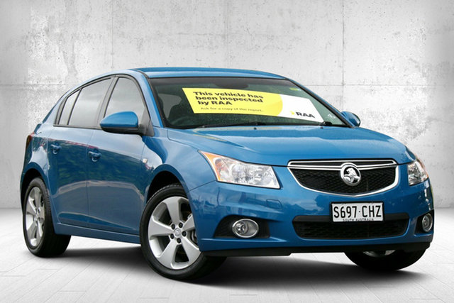 Used Holden Cruze JH Series II MY14 Equipe Valley View, 2013 Holden Cruze JH Series II MY14 Equipe Perfect Blue 5 Speed Manual Hatchback