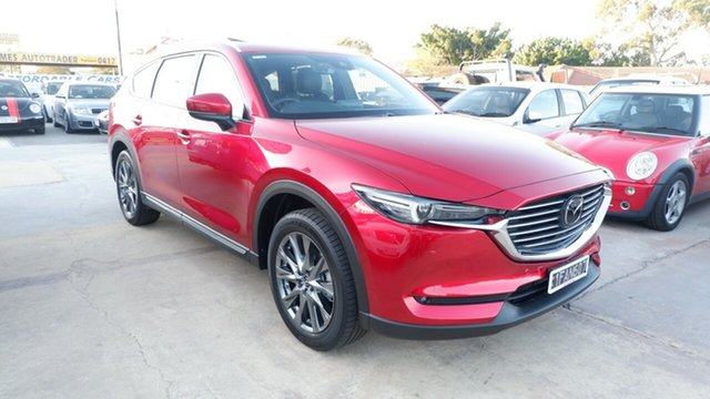Used Mazda CX-8 KG2W2A Asaki SKYACTIV-Drive FWD St James, 2021 Mazda CX-8 KG2W2A Asaki SKYACTIV-Drive FWD Red 6 Speed Sports Automatic Wagon