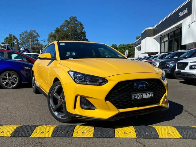 Demo Hyundai Veloster JS MY20 Turbo Coupe D-CT Penrith, 2019 Hyundai Veloster JS MY20 Turbo Coupe D-CT Thunder Bolt 7 Speed Sports Automatic Dual Clutch
