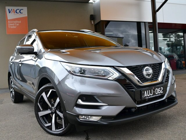 Used Nissan Qashqai J11 Series 2 Ti X-tronic Fawkner, 2018 Nissan Qashqai J11 Series 2 Ti X-tronic Grey 1 Speed Constant Variable Wagon