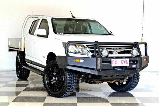 Used Holden Colorado RG MY18 LS (4x4) Burleigh Heads, 2018 Holden Colorado RG MY18 LS (4x4) White 6 Speed Automatic Crew Cab Chassis