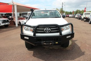 Toyota Hilux GUN126R SR5 Double Cab Glacier White 6 Speed Manual Dual Cab Chassis.