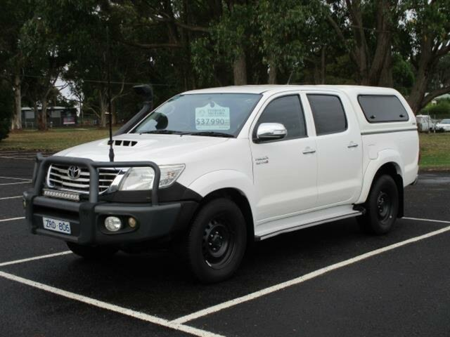 Used Toyota Hilux GGN25R SR5 Timboon, 2013 Toyota Hilux KUN26R Turbo SR5 4x4 White Automatic Dual Cab Utility