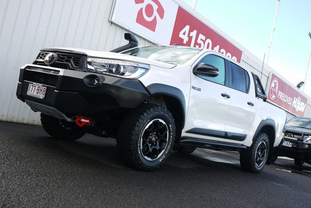 Used Toyota Hilux GUN126R Rugged X Double Cab Bundaberg, 2019 Toyota Hilux GUN126R Rugged X Double Cab 6 Speed Sports Automatic Utility