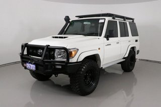 2019 Toyota Landcruiser VDJ76R MY18 Workmate (4x4) White 5 Speed Manual Wagon.